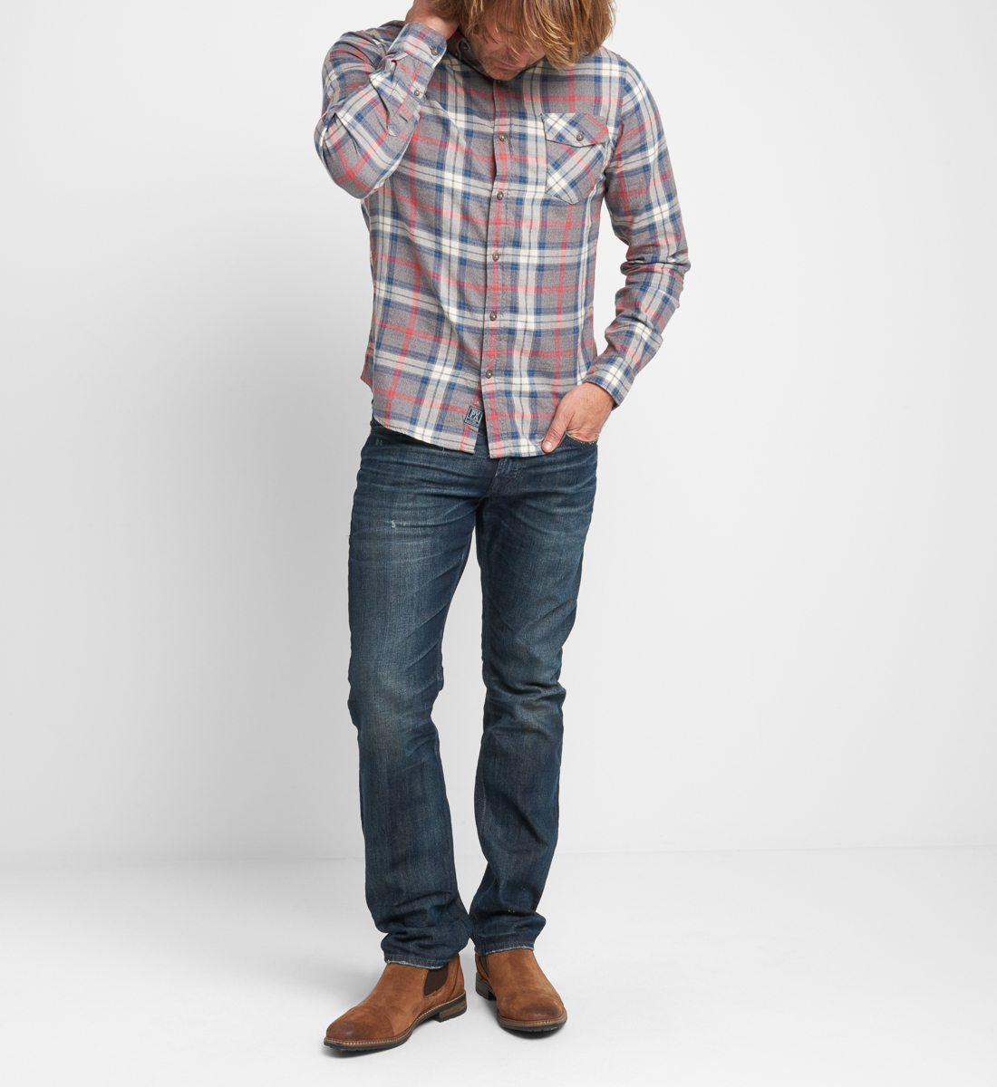 Bronx Plaid Button-Down Shirt Front