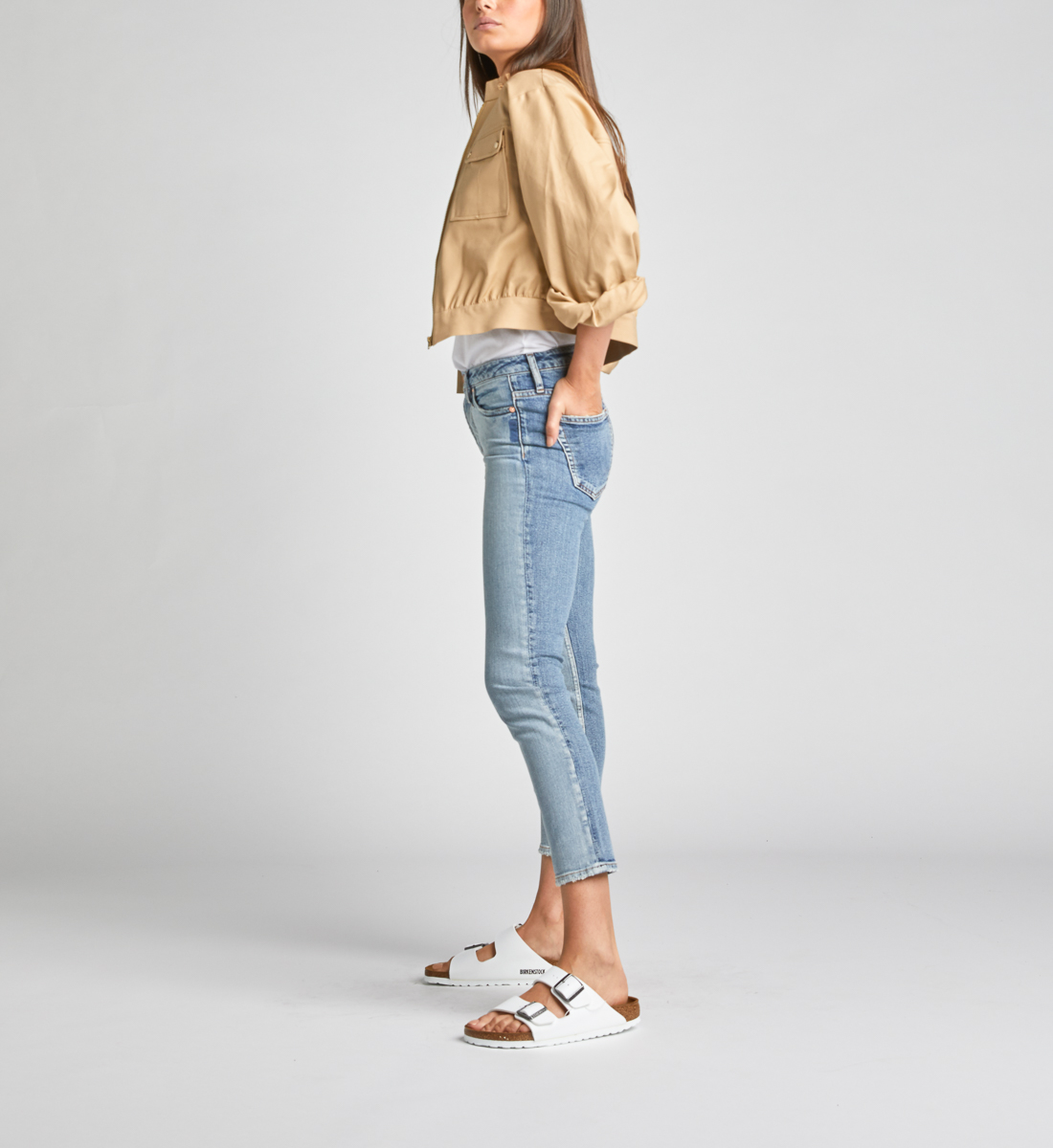 High Note High Rise Slim Crop Jeans Side