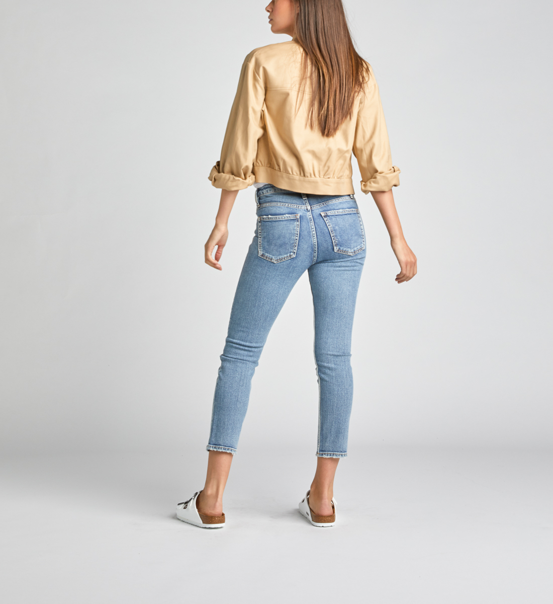 High Note High Rise Slim Crop Jeans Back