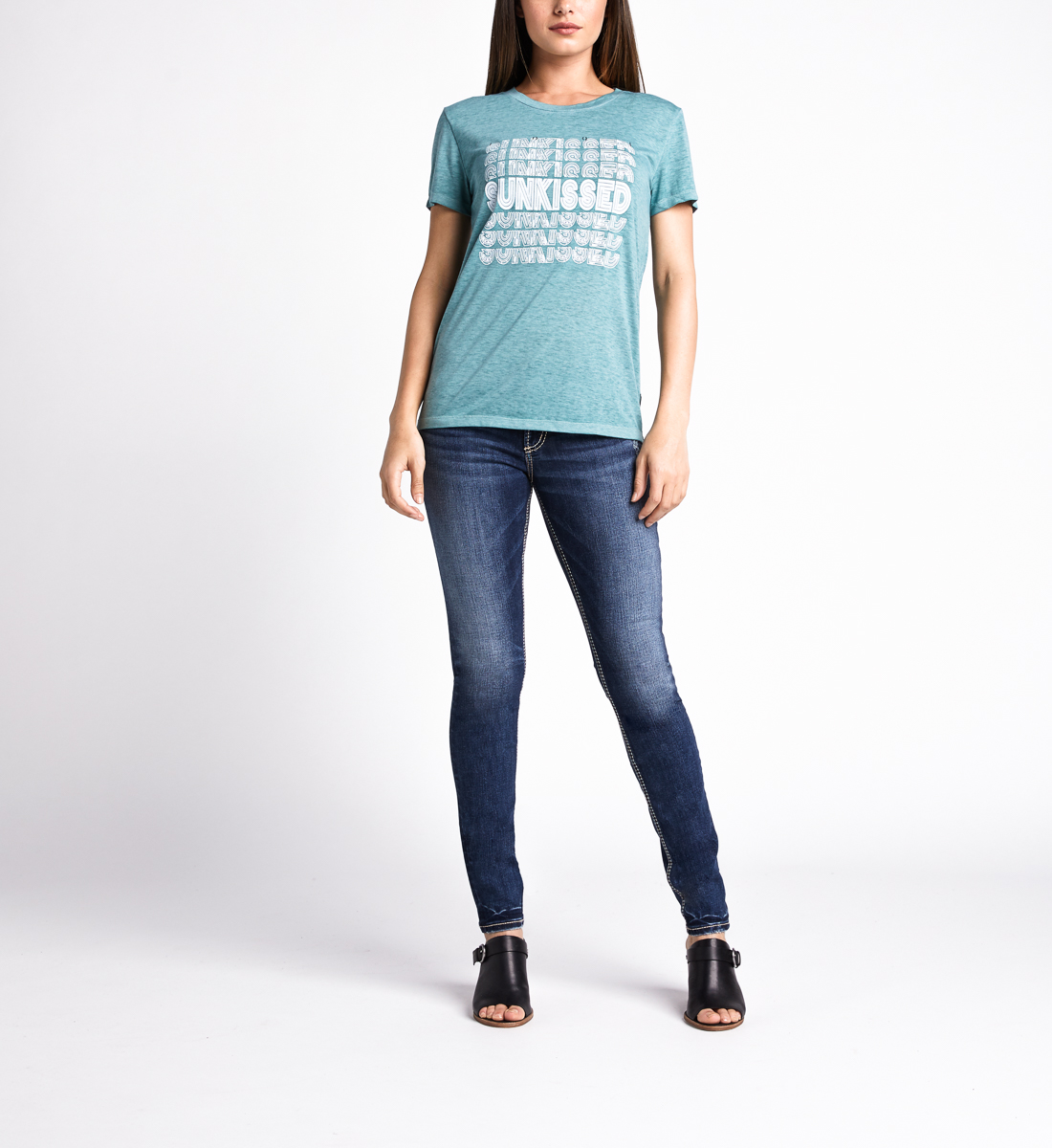 Mara Sunkissed Graphic Tee,Dusty Green Back