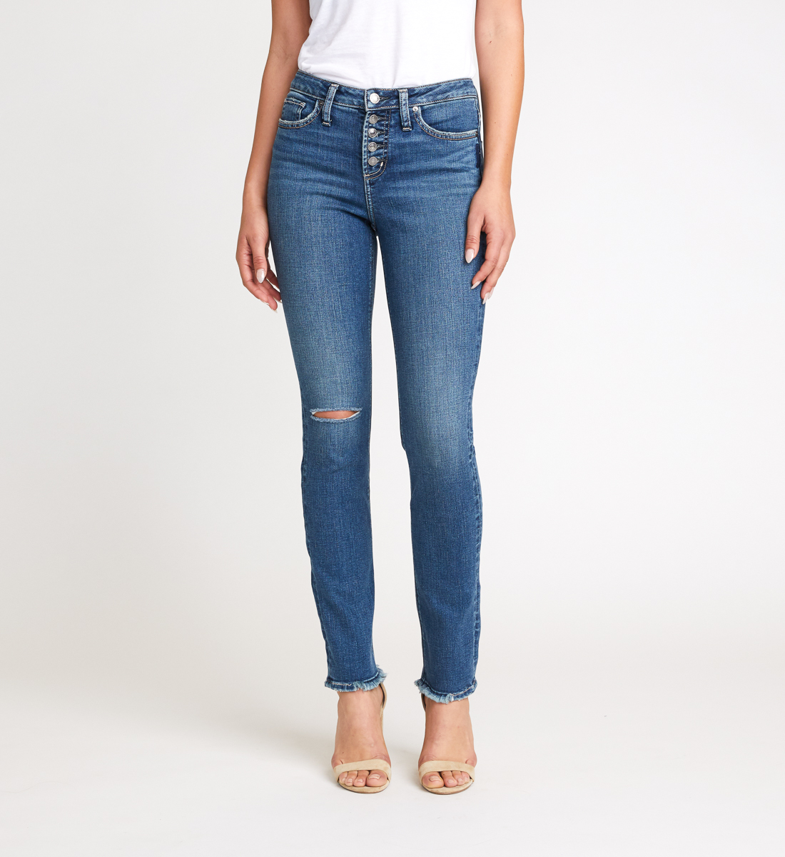 High Note High Rise Slim Leg Jeans Front