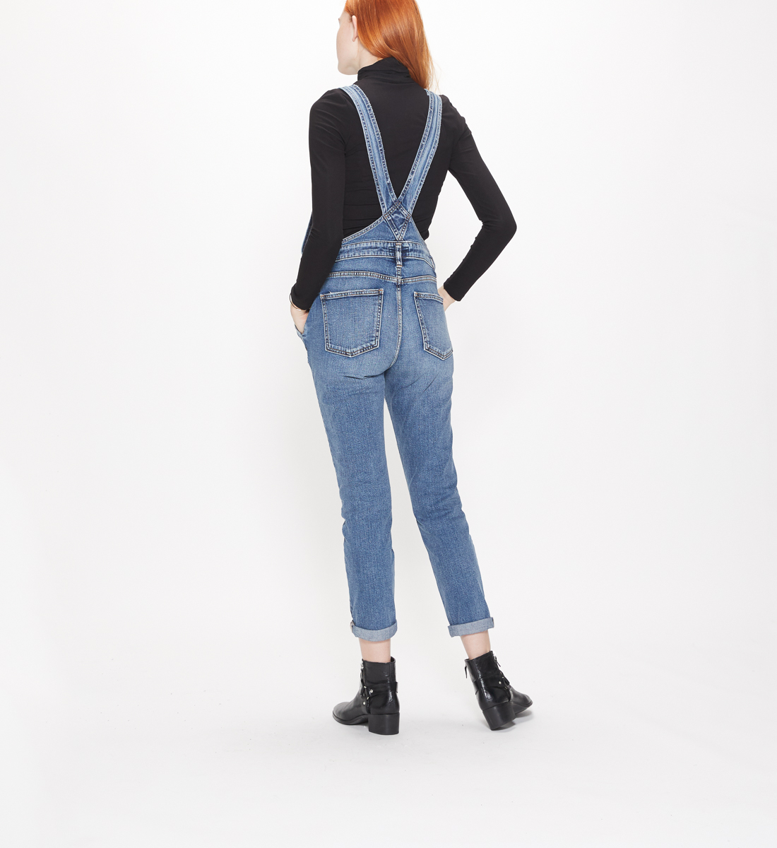 Skinny Overall Medium Wash, , hi-res