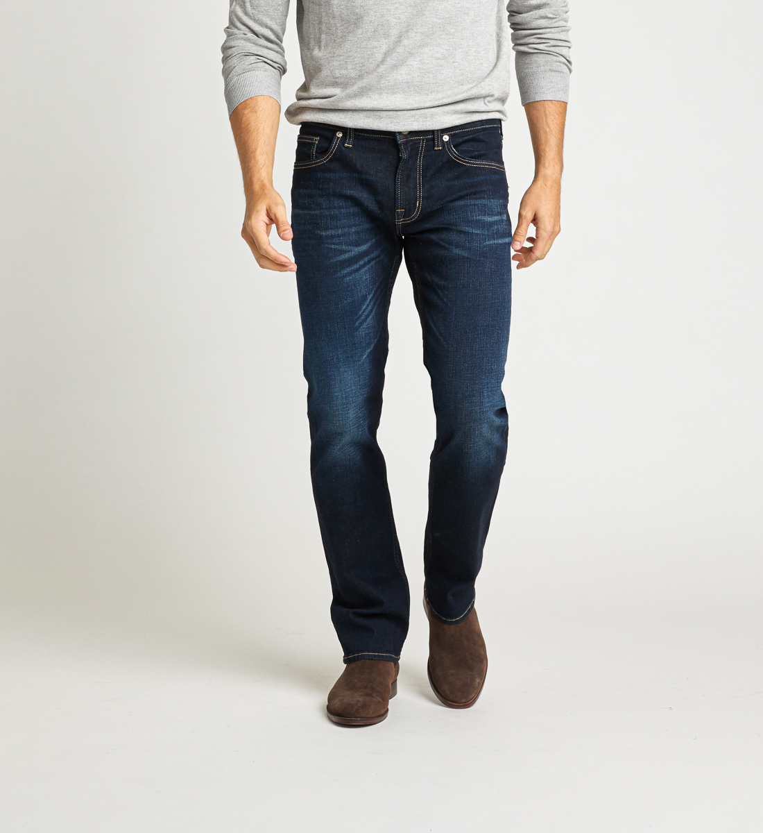 Allan Classic Fit Straight Jeans Front