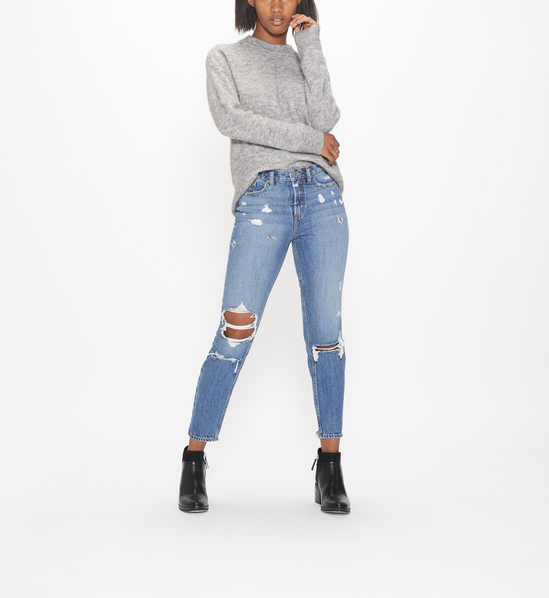 East End High Rise Ankle Slim Jeans, , hi-res