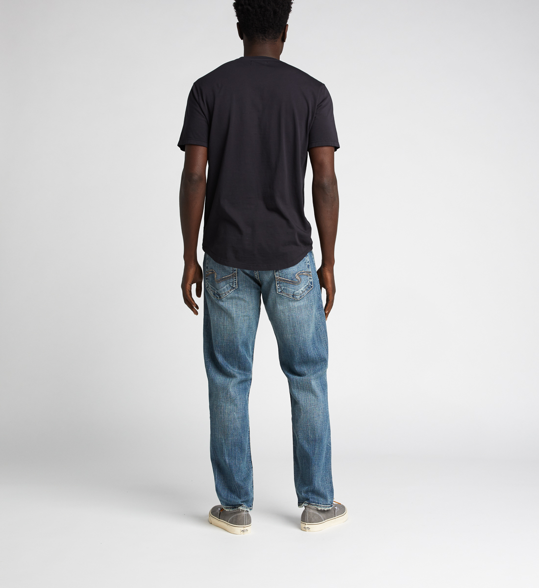 Hunter Athletic Fit Tapered Leg Jeans,Indigo Back