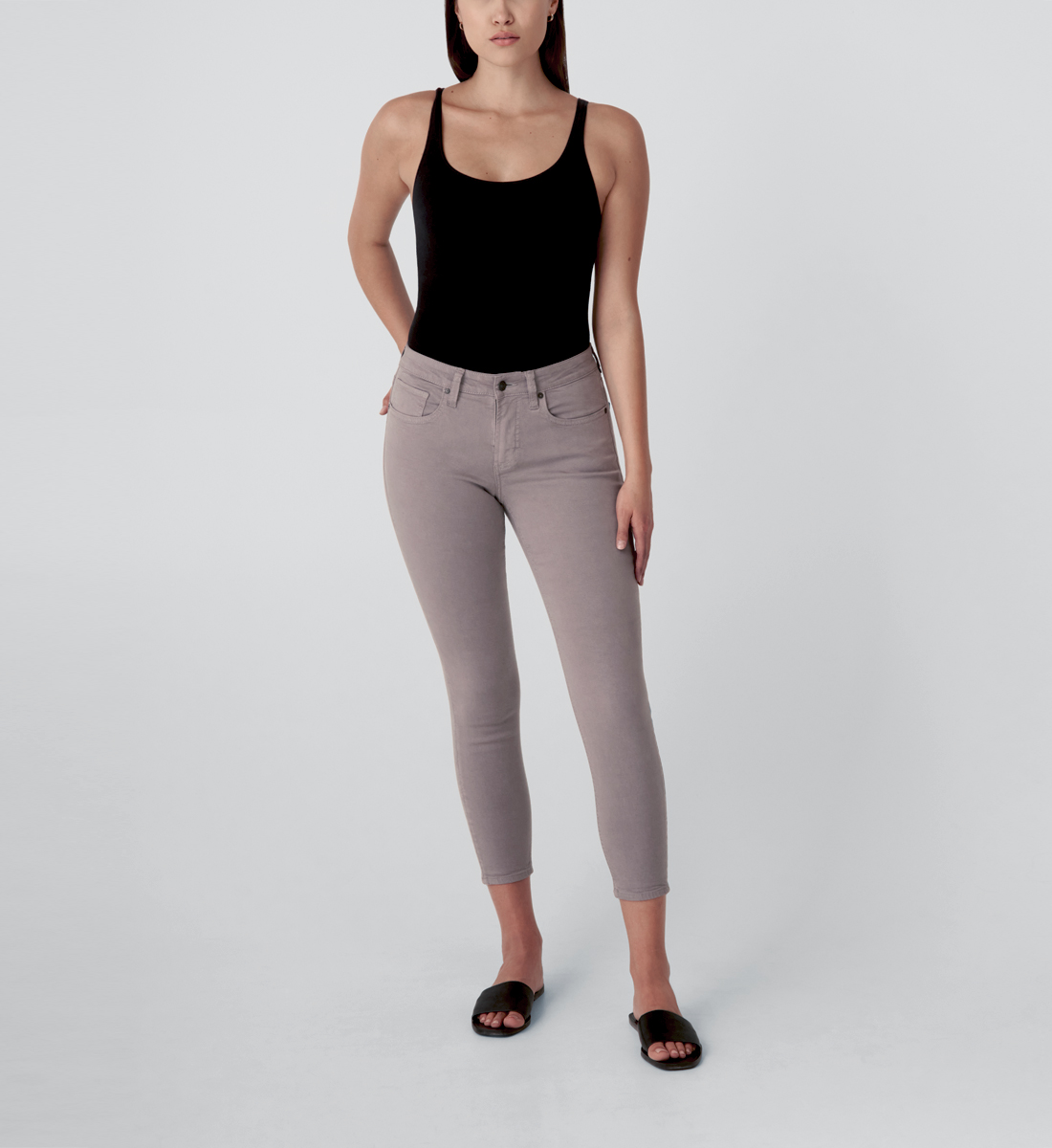 Most Wanted Mid Rise Skinny Jeans,Grey Front