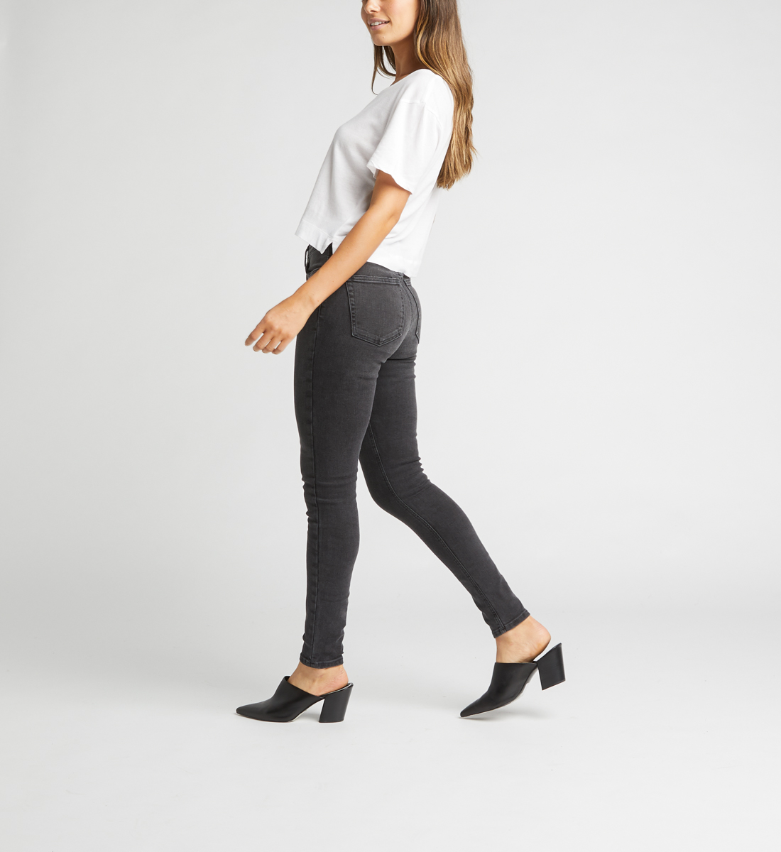High Note High Rise Skinny Jeans Side