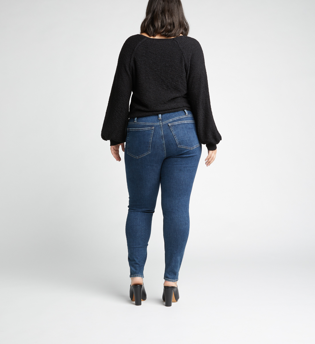 High Note High Rise Skinny Leg Jeans Plus Size,Indigo Side