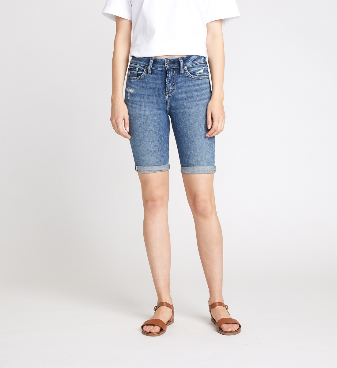 Avery High Rise Bermuda Short Front
