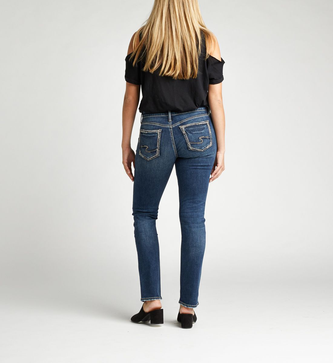Avery High Rise Straight Leg Jeans Back
