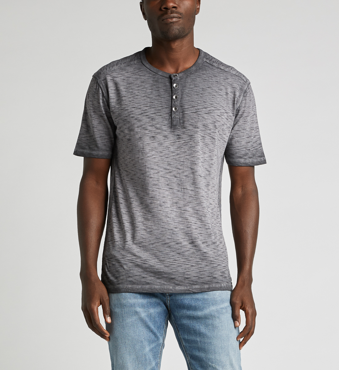 Kane Henley Tee,Black Front