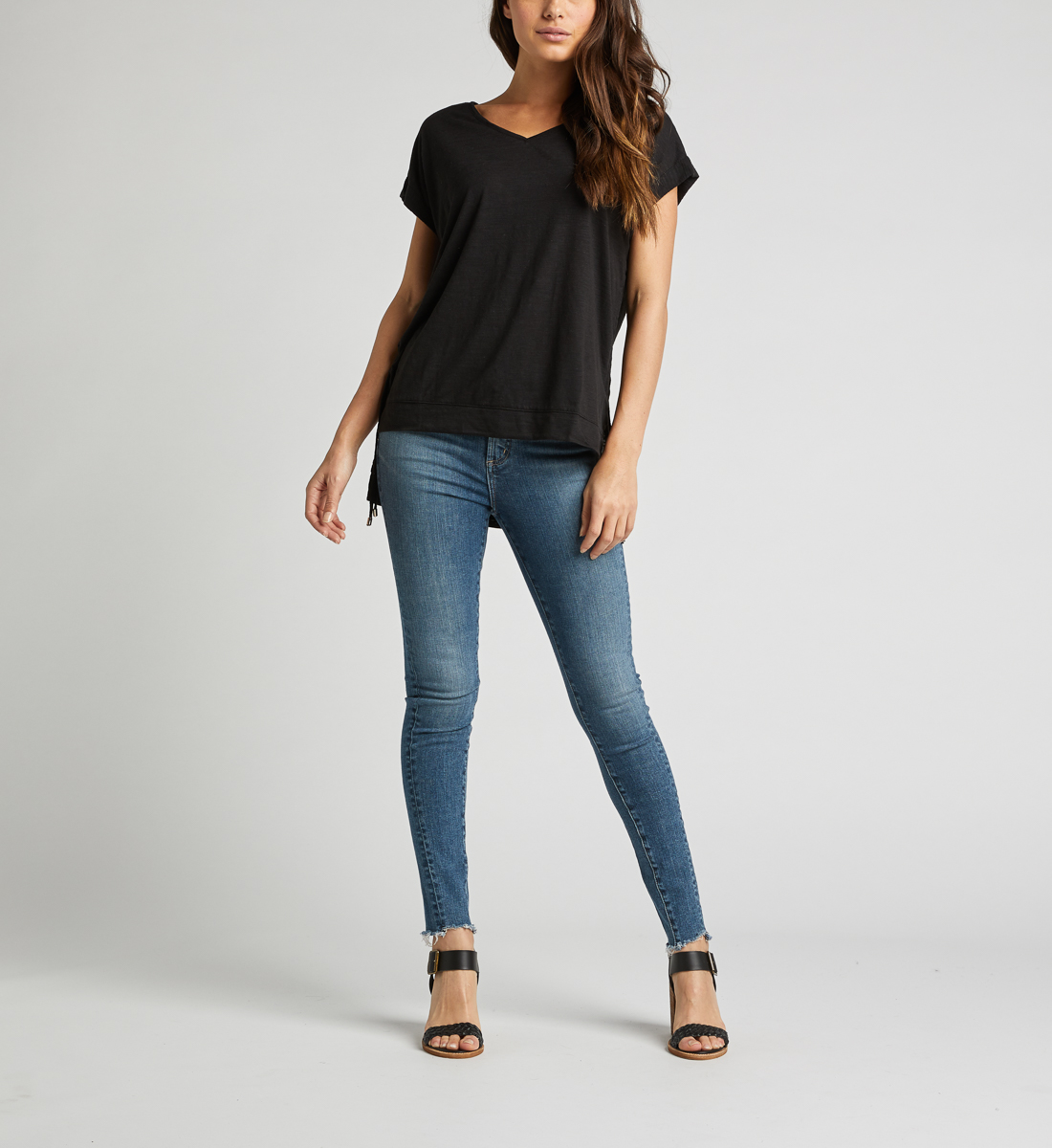 Agnes Side Tie Top,Black Back
