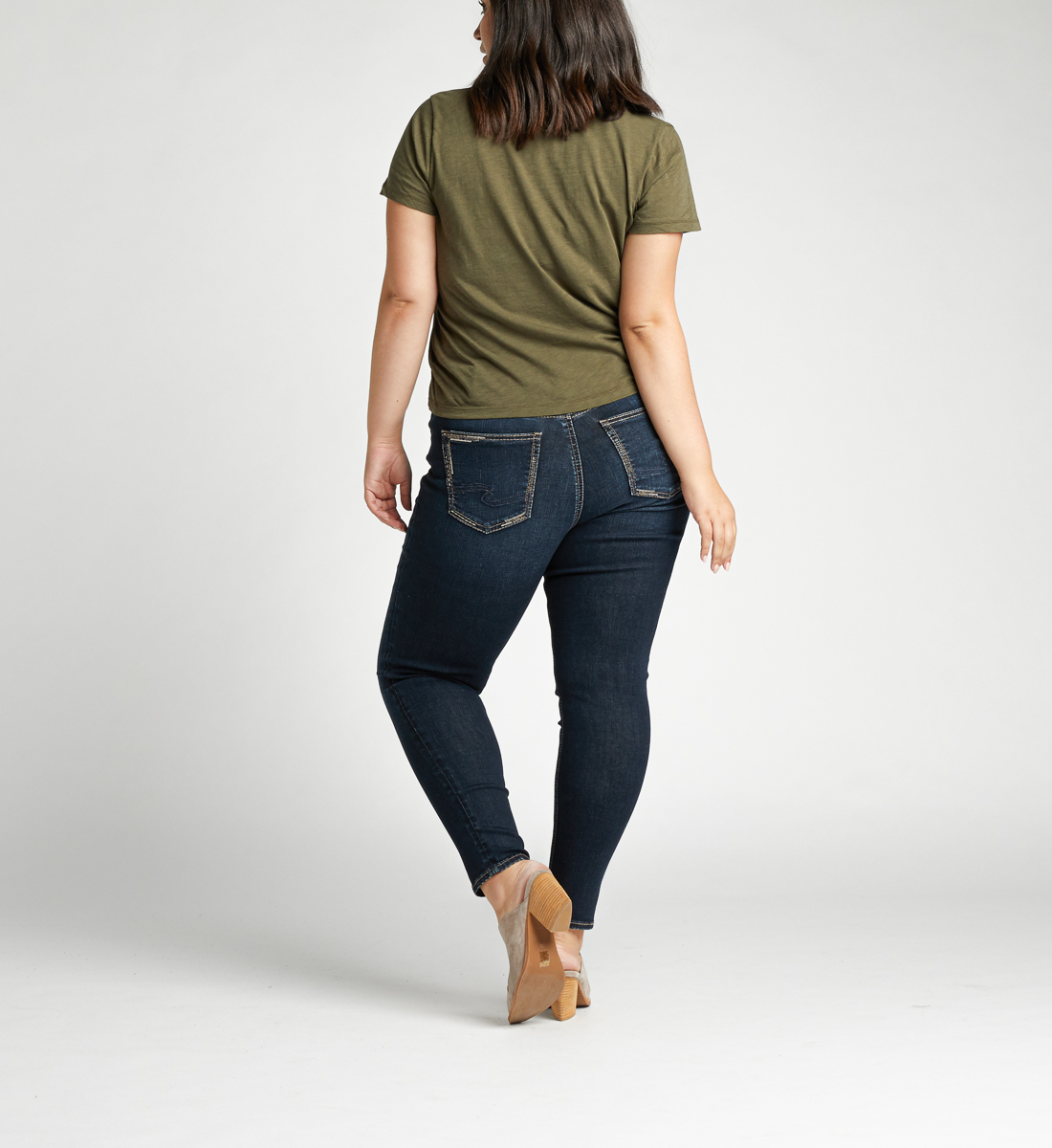 Avery High Rise Skinny Plus Size Jeans Back