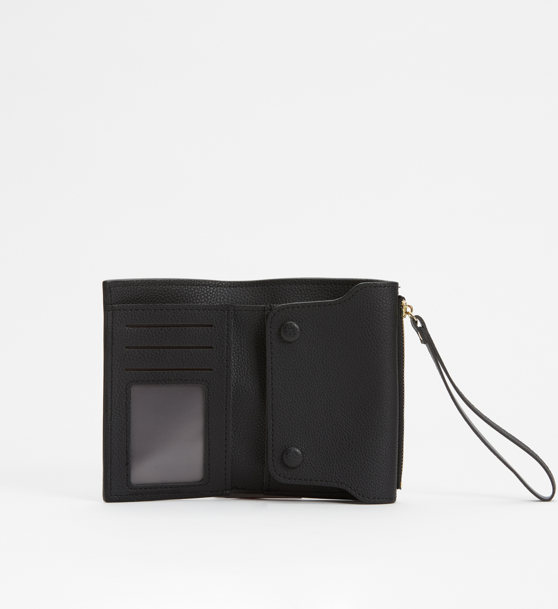 Small Flap Wristlet Wallet,Black Alt Image 1