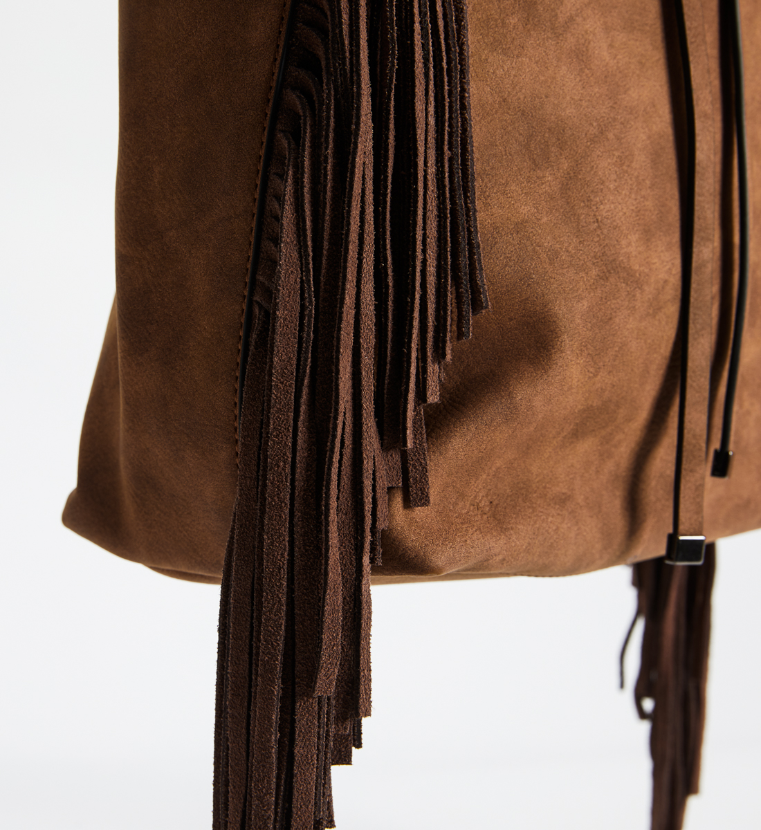 Large Fringe Crossbody, Tan, swatch