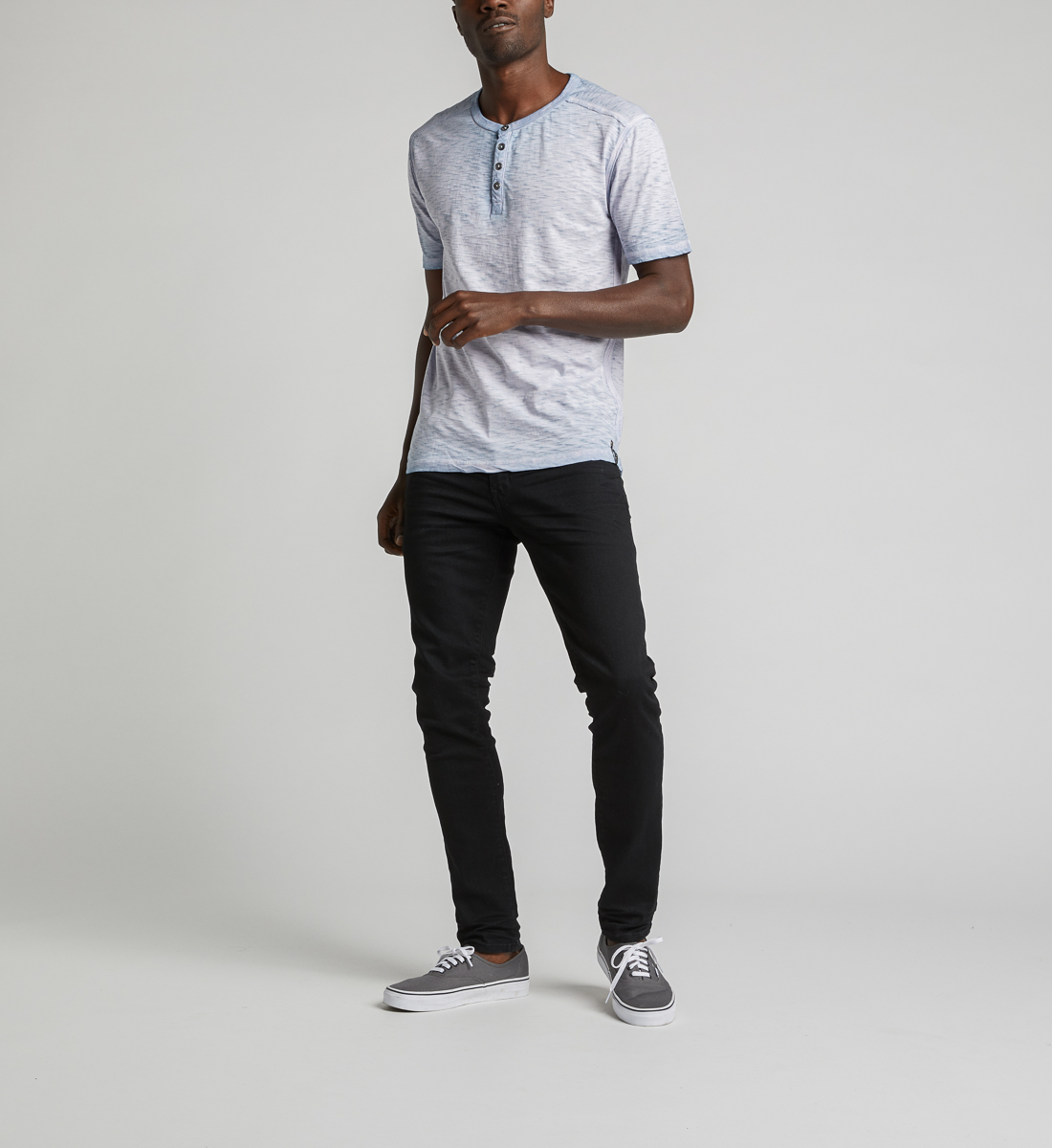 Kane Henley Tee,Light Blue Back