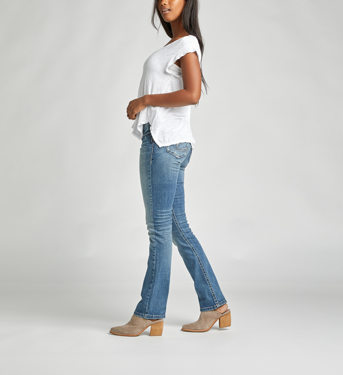 Tuesday Low Rise Slim Bootcut Jeans Side