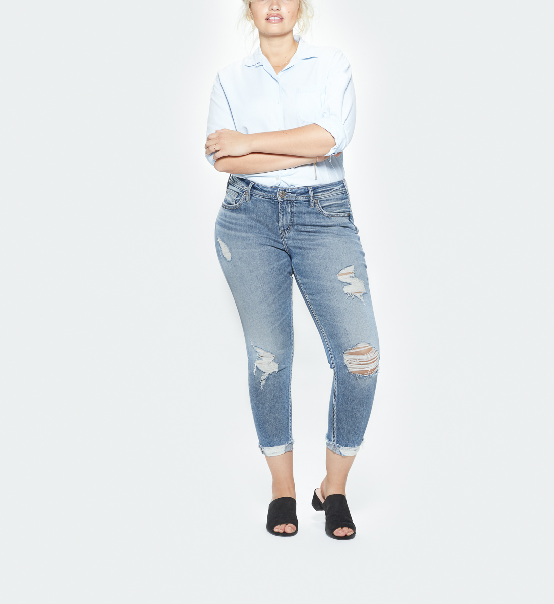 Suki Mid Rise Skinny Crop Jeans Plus Size, , hi-res