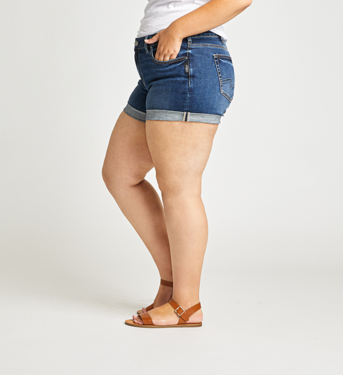 Boyfriend Mid Rise Short Plus Size Side