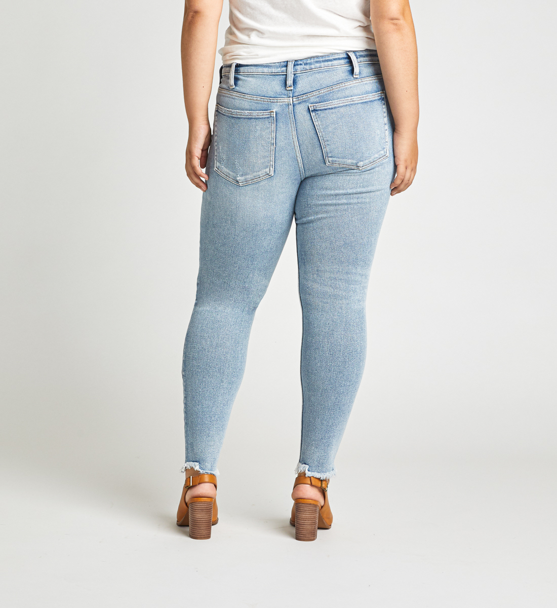 Most Wanted Mid Rise Skinny Jeans Plus Size Back