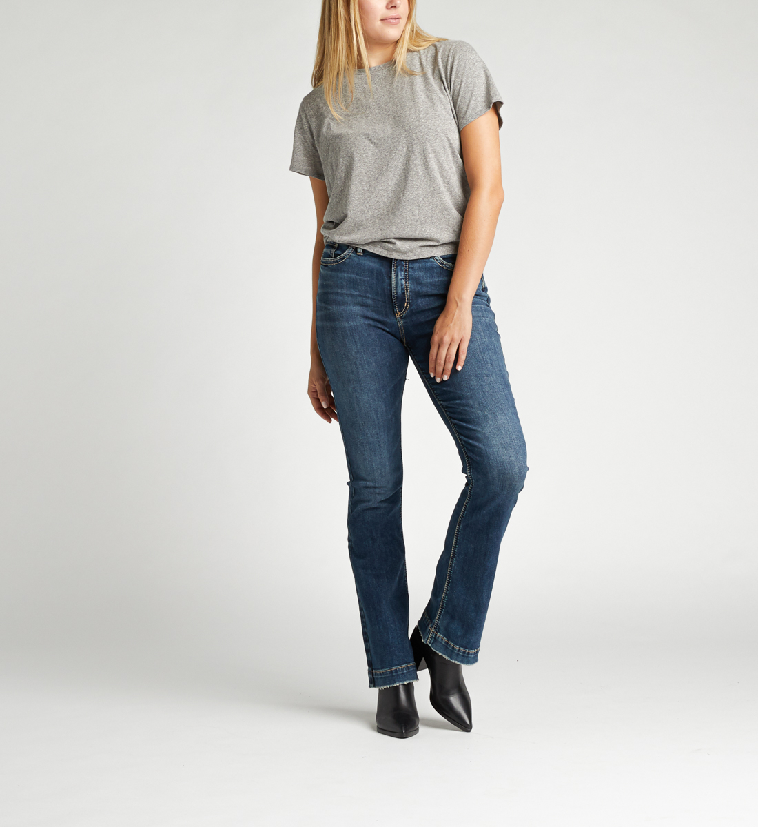 Calley Super High Rise Bootcut Jeans Front