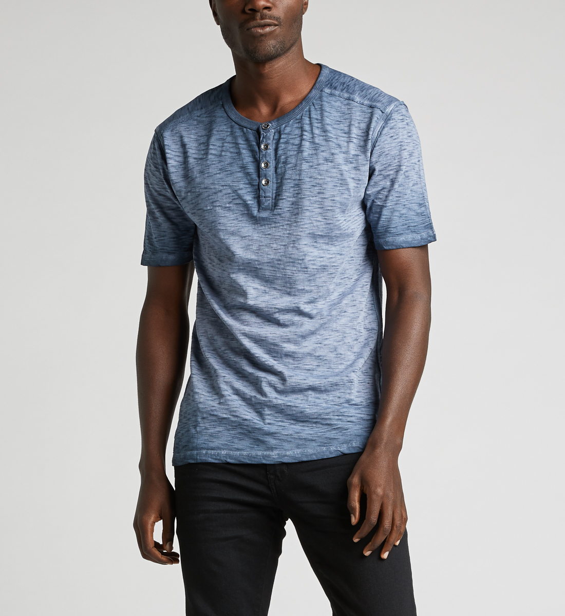Kane Henley Tee,Blue Front