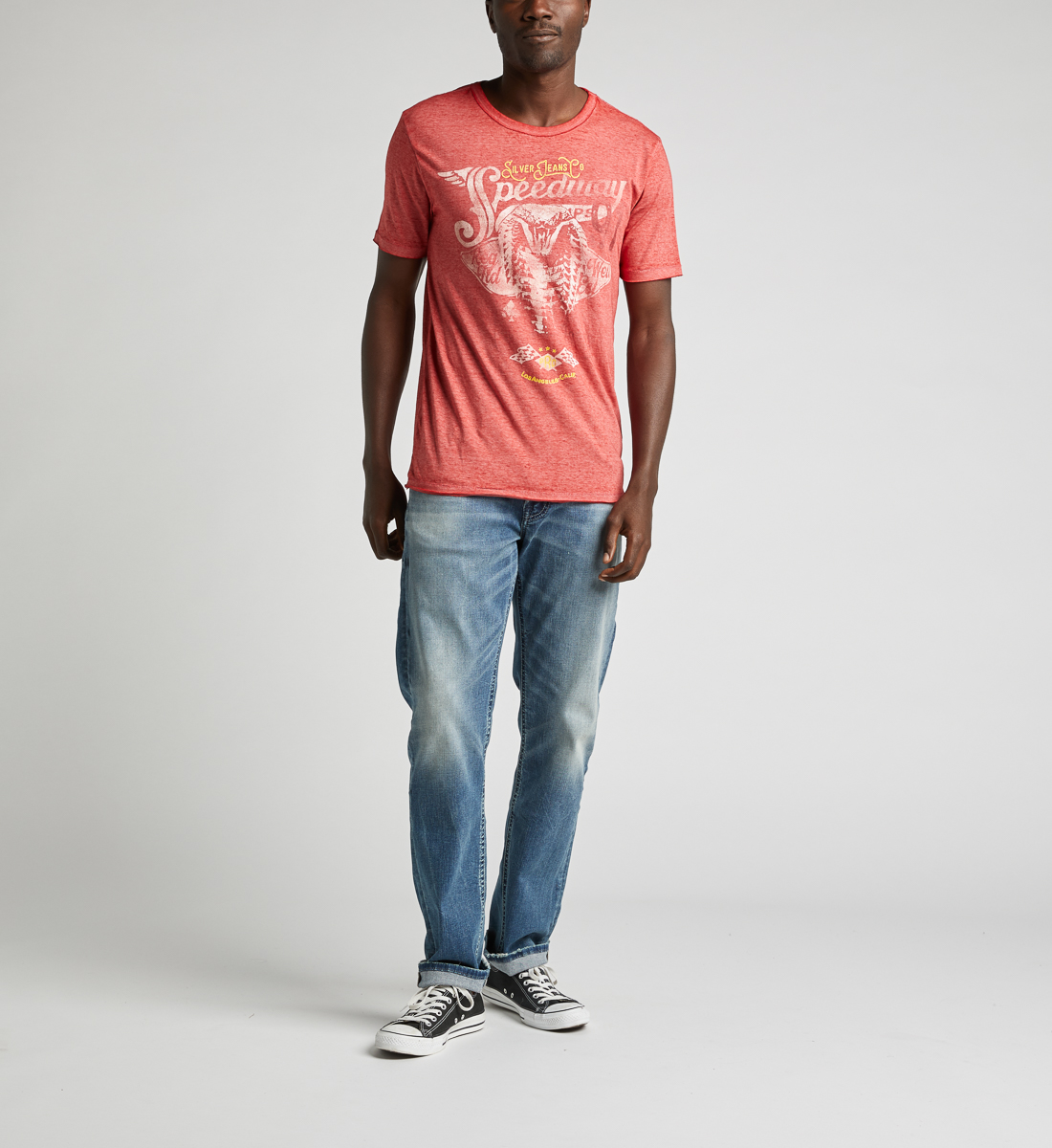 Dacca Burnout Graphic Tee, Red, hi-res