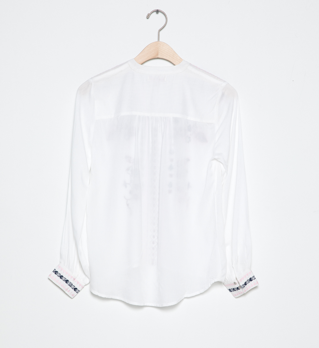 Long-Sleeve Embroidered Peasant Top (4-7), , hi-res