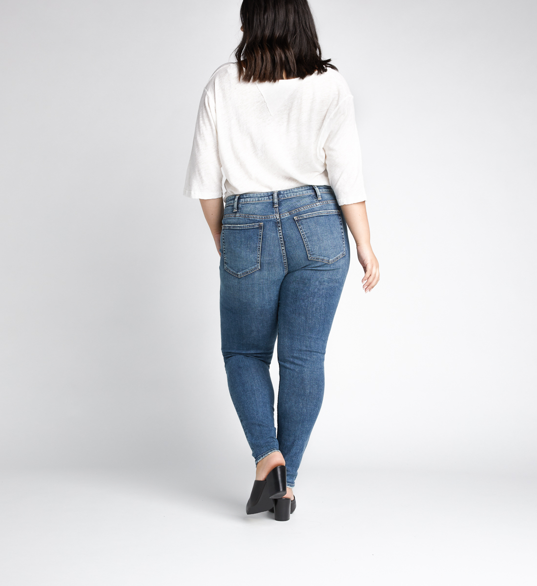 High Note High Rise Skinny Leg Jeans Plus Size,Indigo Back