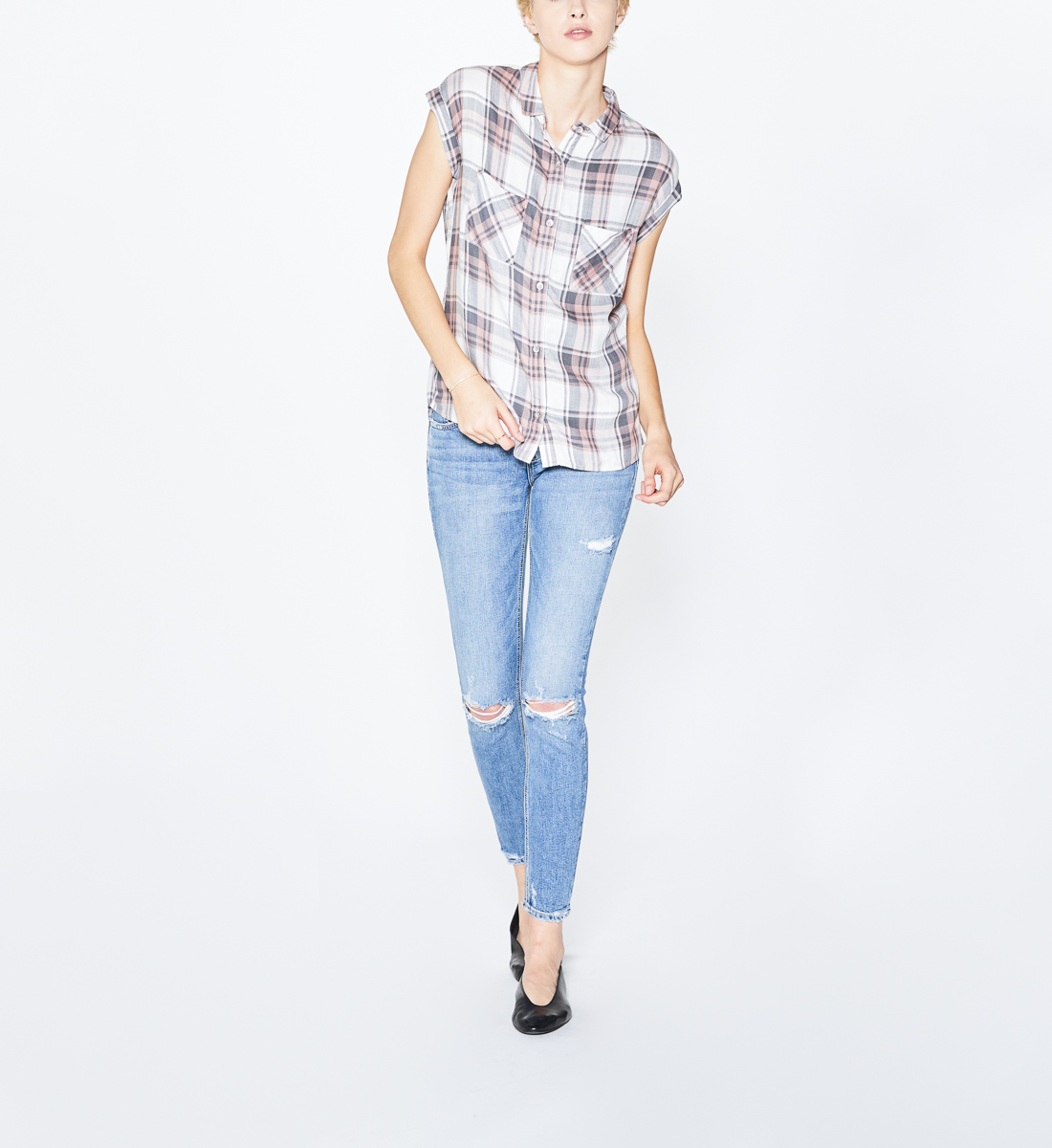 Shiloh Plaid Shirt Pink, , hi-res