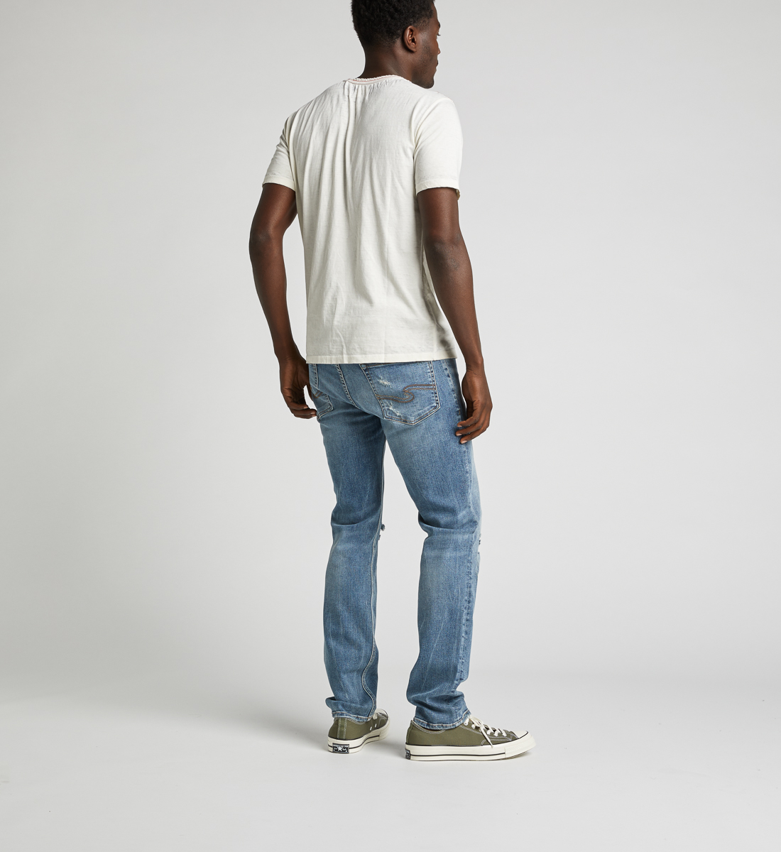 Kaleo Henley Tee,Warm White Side