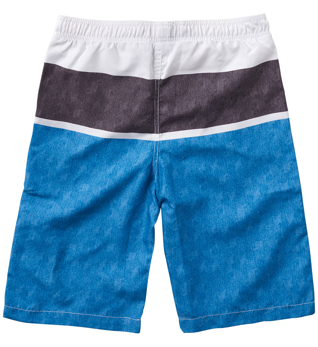 Blue Striped Swim Trunks (4-7), , hi-res