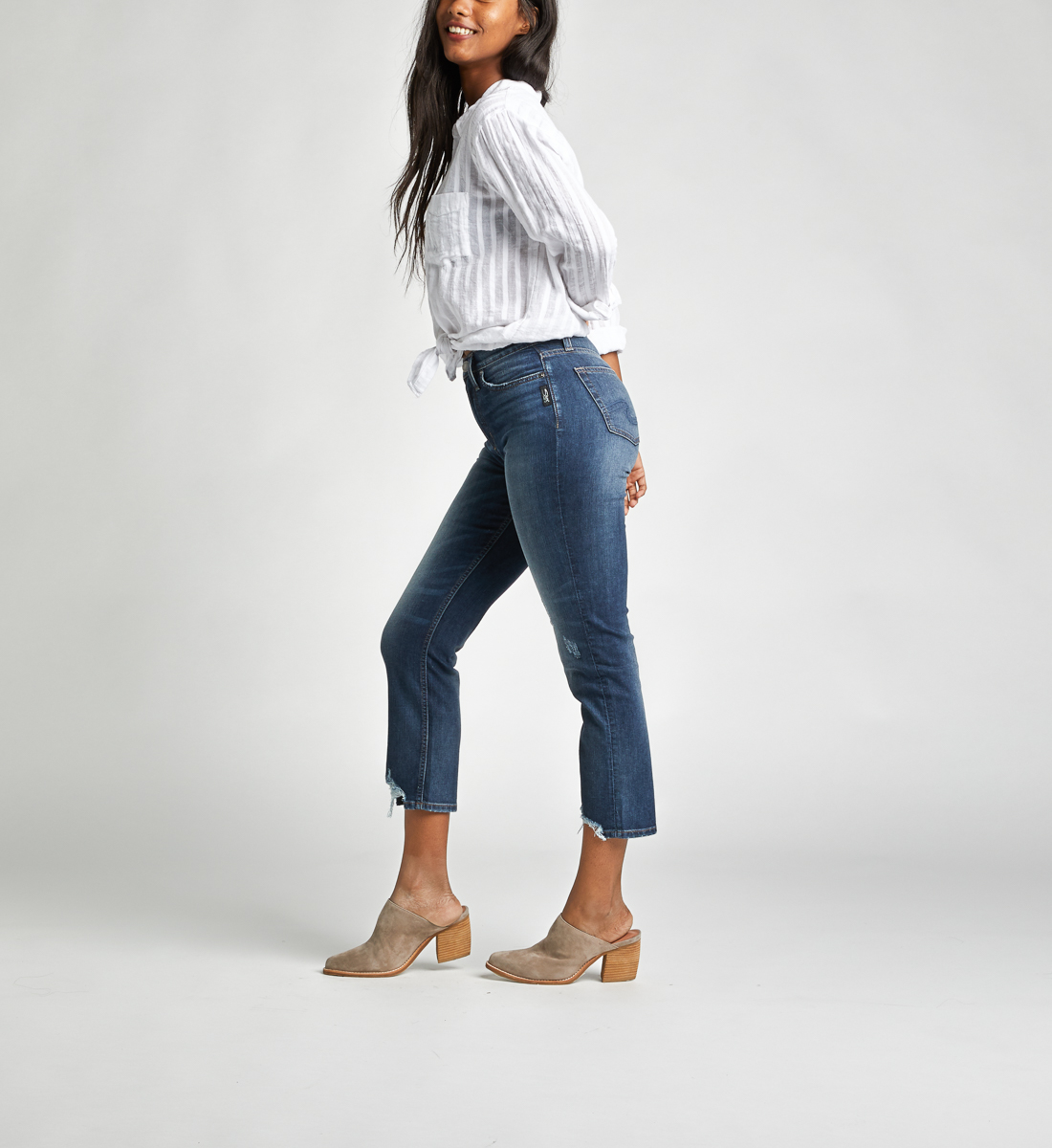 Calley Super High Rise Slim Crop Jeans, , hi-res