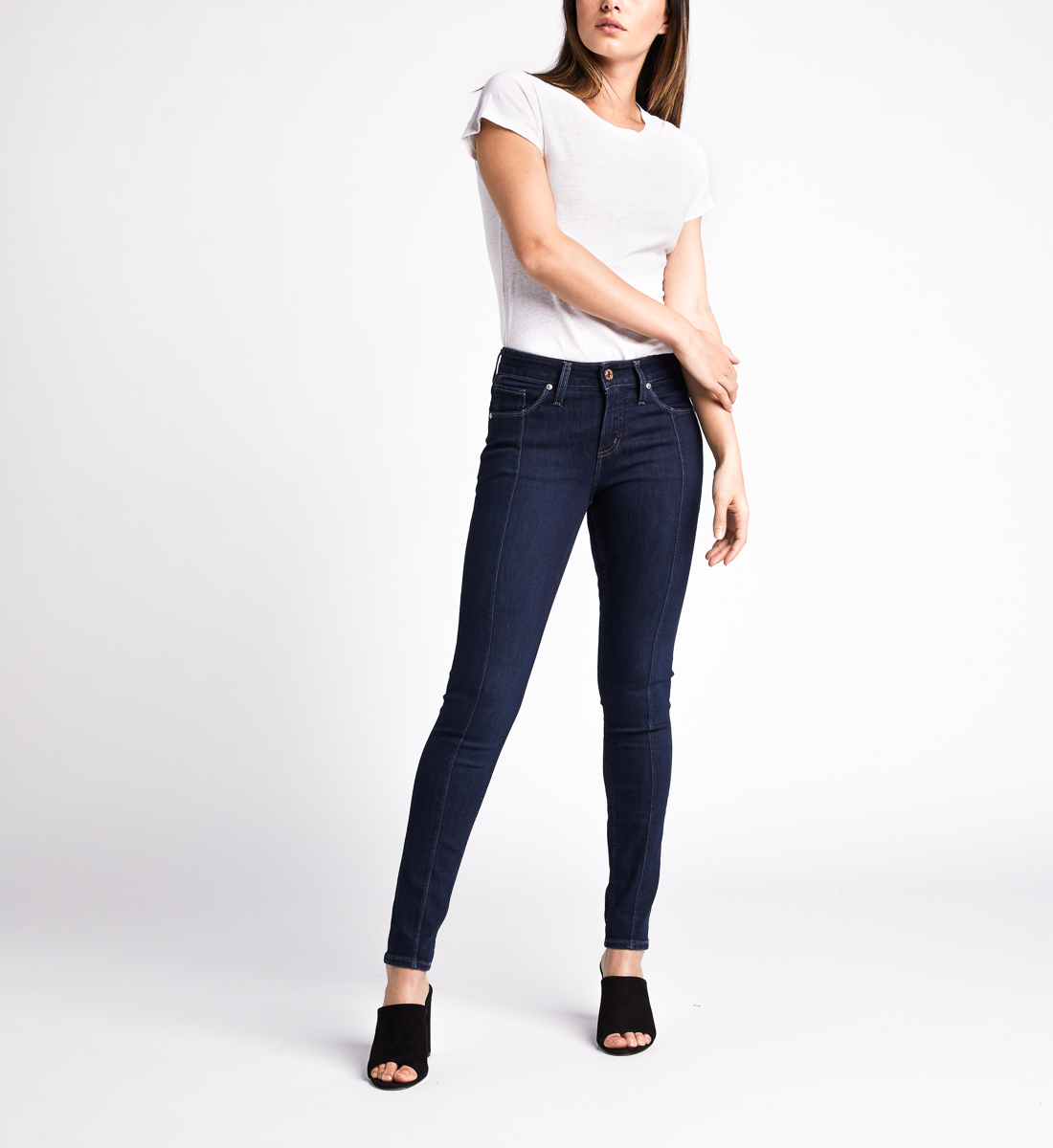 Avery High Rise Skinny Leg Jeans,Indigo Front