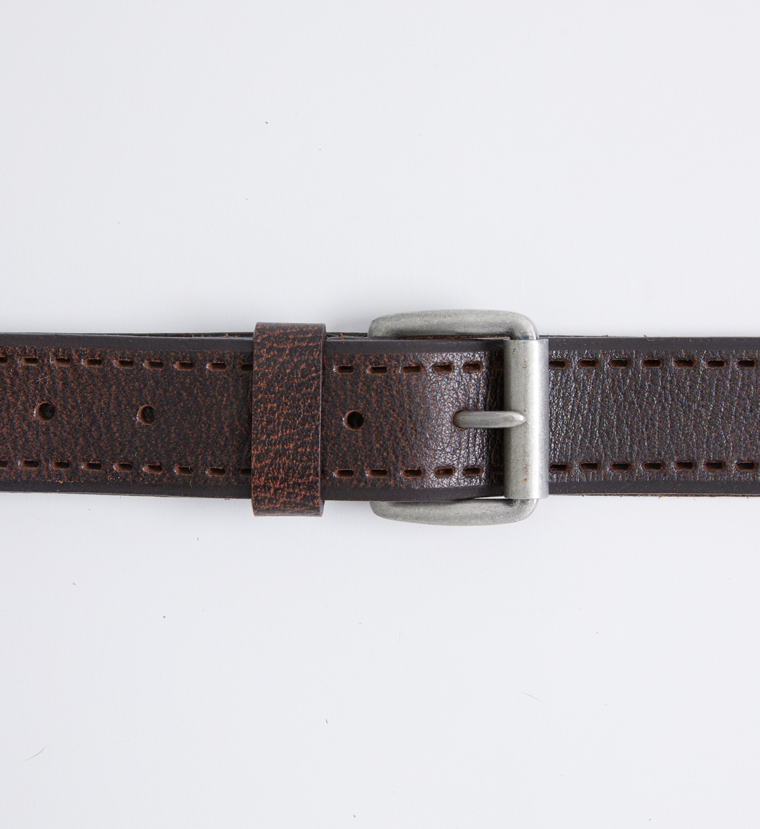 Pebbled Leather Mens Belt Alt Image 1