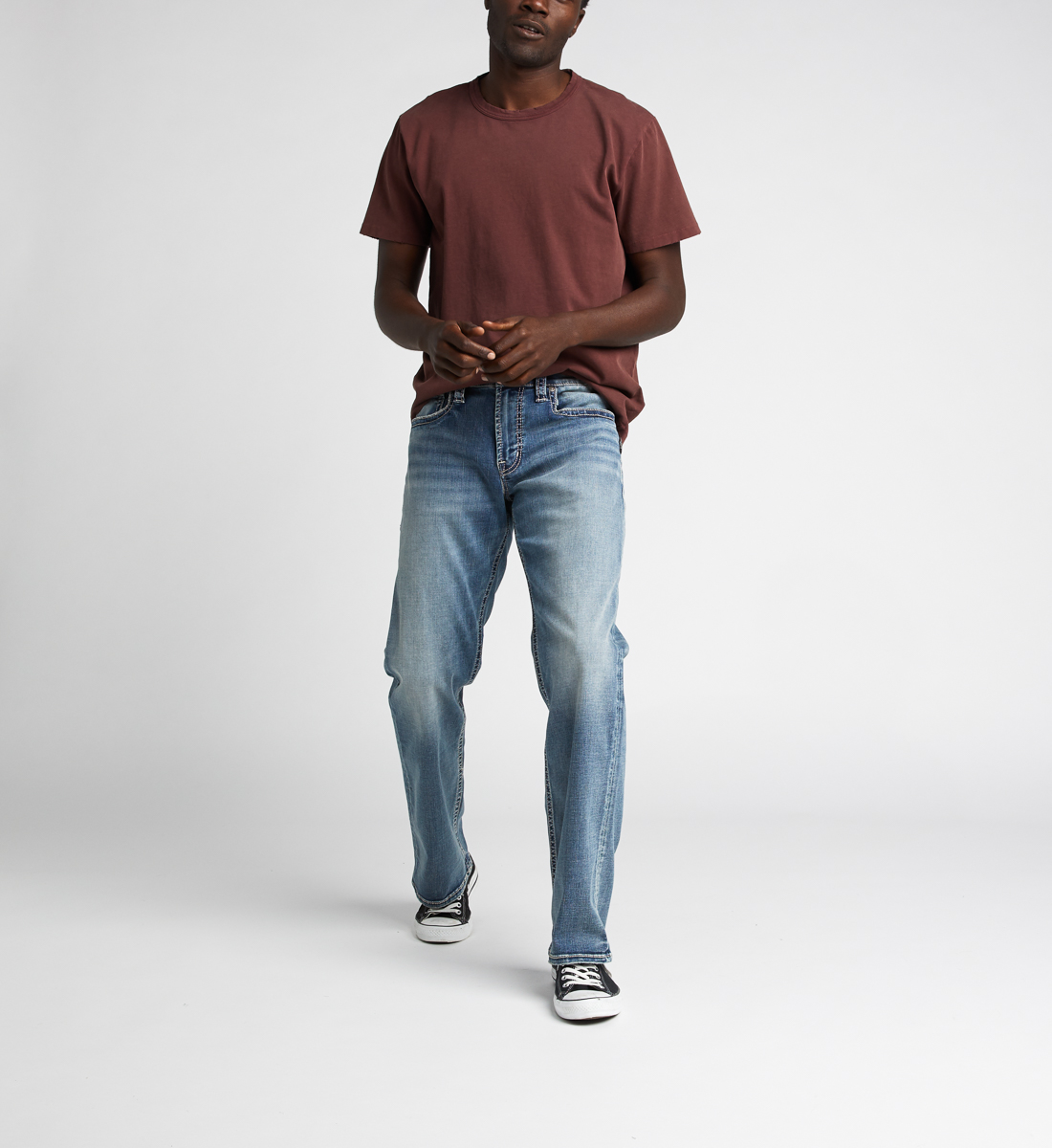 Zac Relaxed Fit Straight Jeans,Indigo Alt Image 1