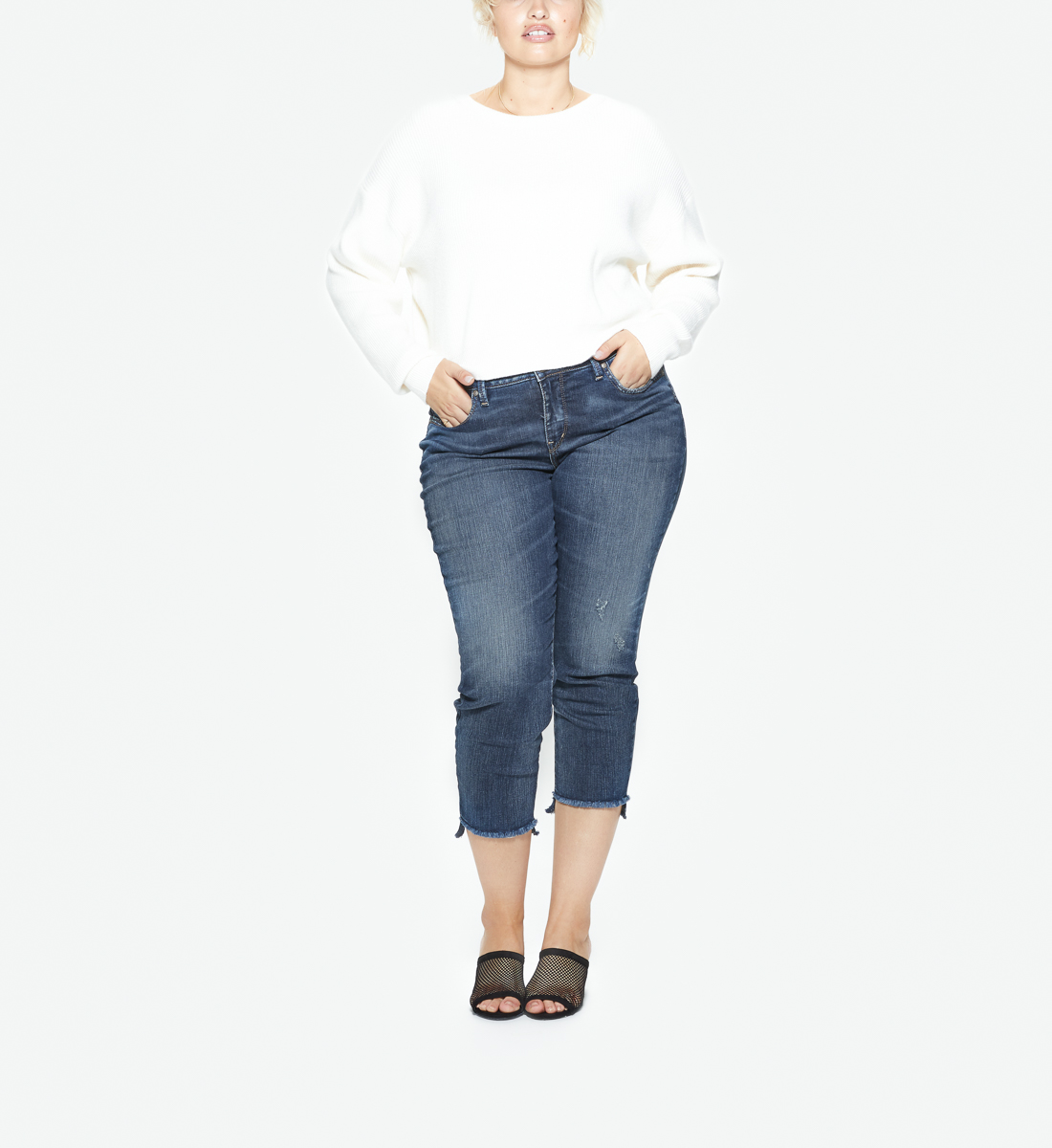 Avery Skinny Crop Dark Wash, , hi-res