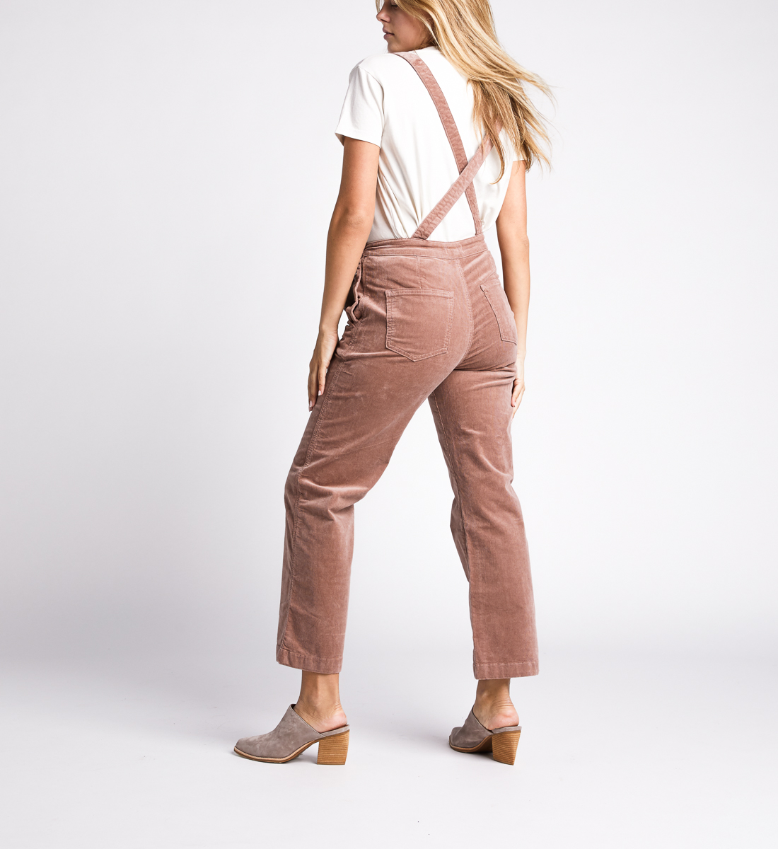 Overall Straight Leg Pants,Blush Back