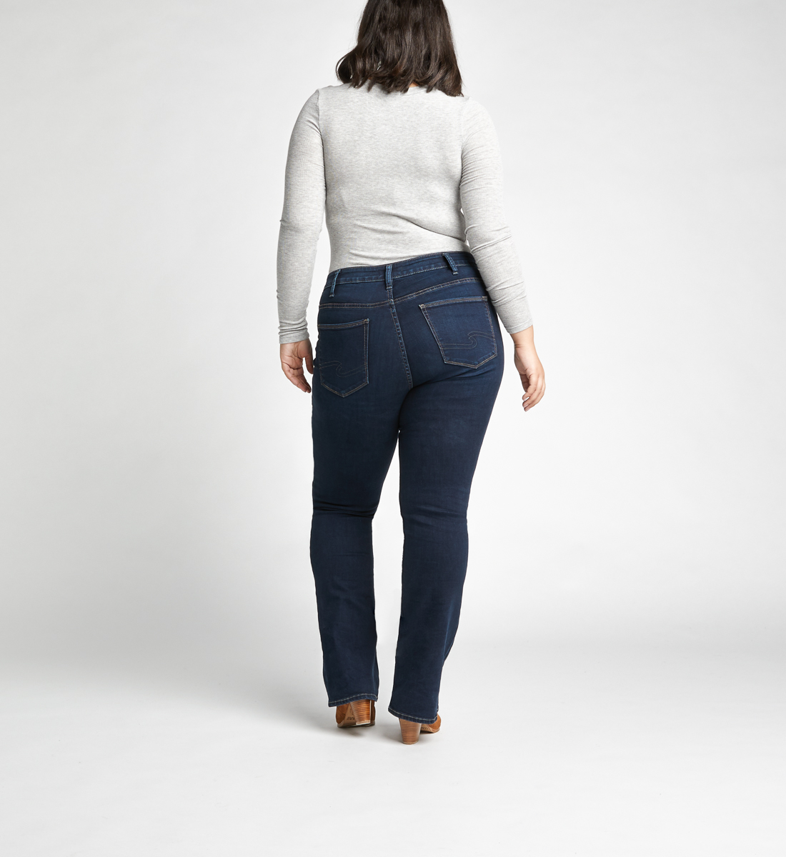 Avery High Rise Slim Bootcut Jeans Plus Size,Indigo Back