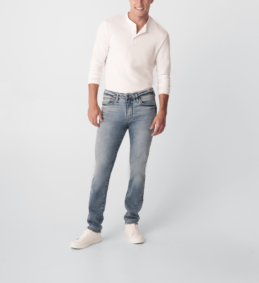 Kenaston Slim Fit Slim Leg Jeans Front