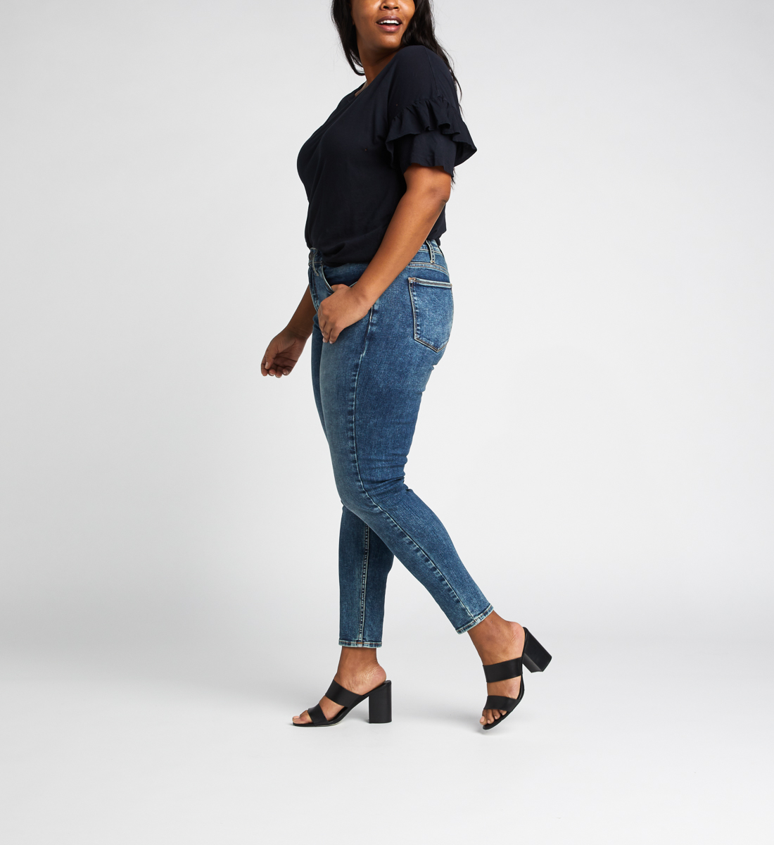 High Note High Rise Skinny Leg Jeans Plus Size, , hi-res