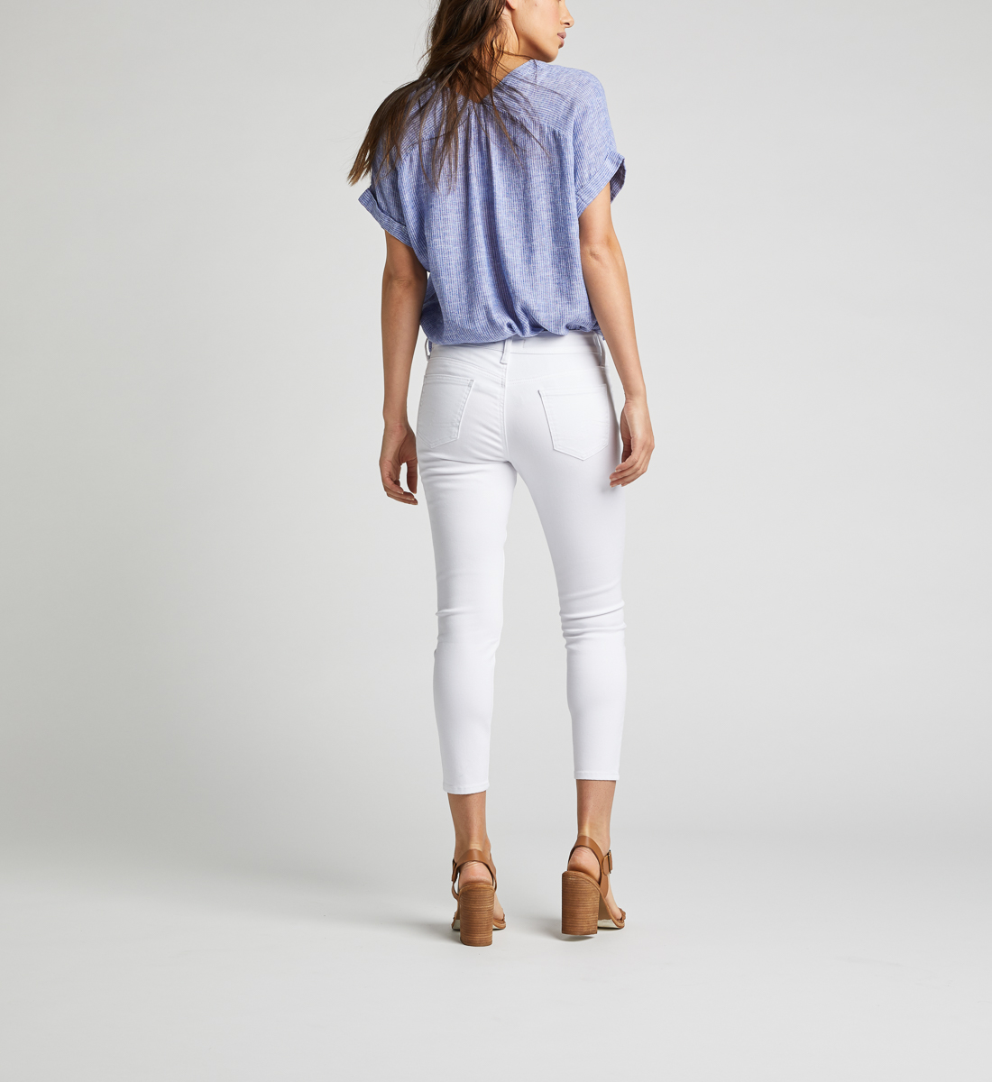 Suki Mid Rise Skinny Crop Pants Back