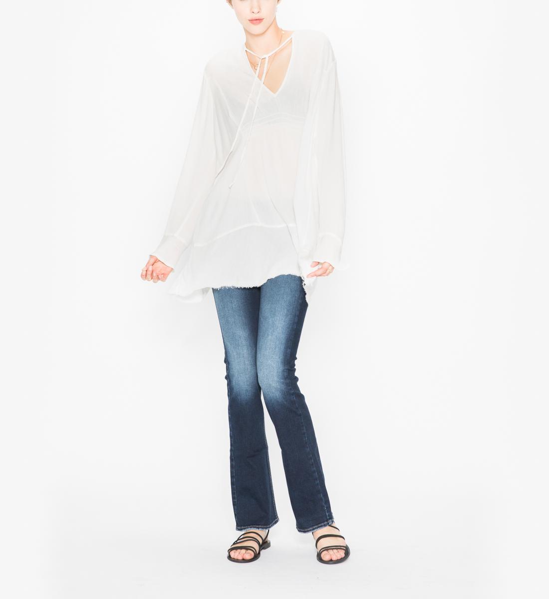 740eae97df6 Sophia - Flowy Tunic Peasant Top - Silver Jeans US