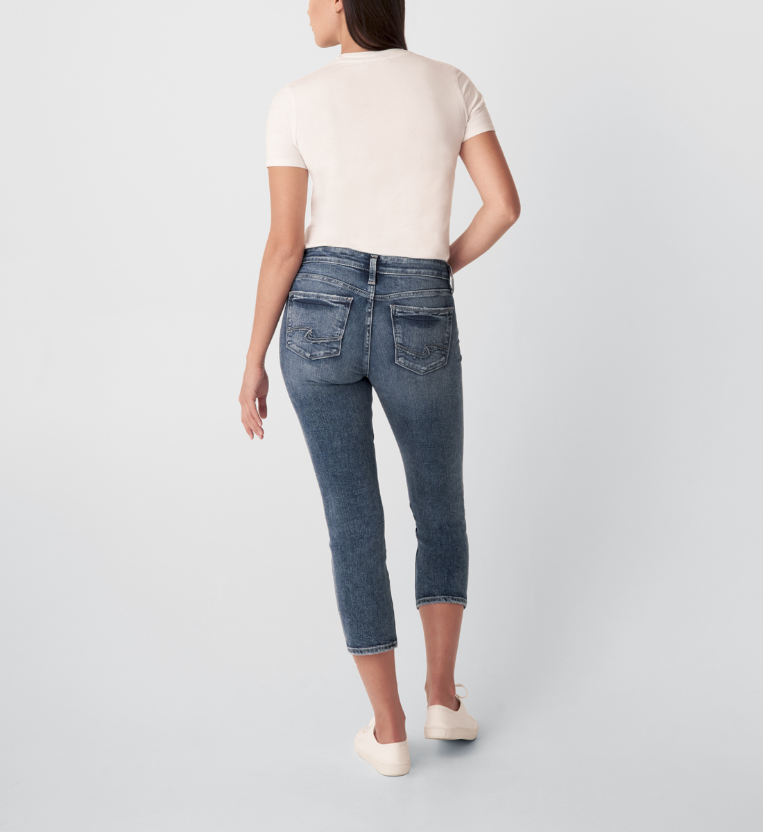 Suki Mid Rise Straight Crop Jeans Back