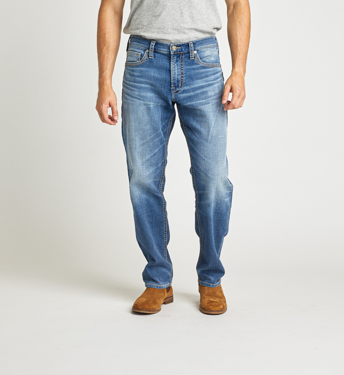 Hunter Athletic Fit Tapered Leg Jeans Front
