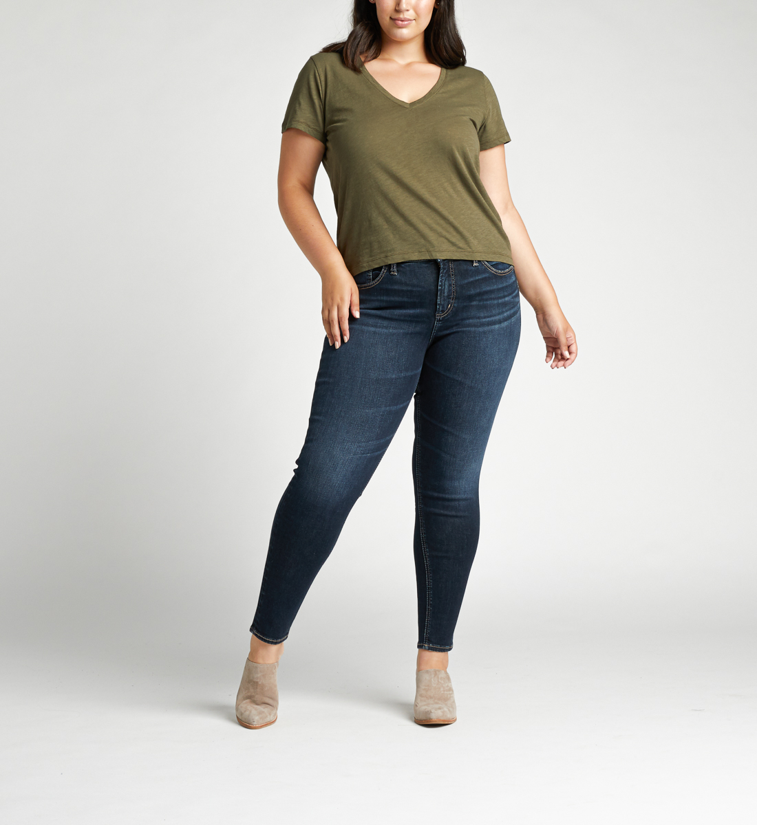 Avery High Rise Skinny Plus Size Jeans Alt Image 1