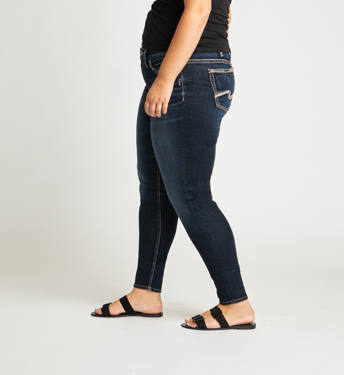 Suki Mid Rise Skinny Plus Size Jeans Side