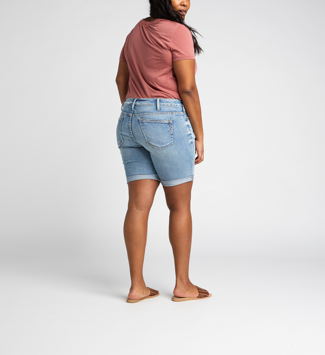 Suki Mid Rise Bermuda Short Plus Size Back