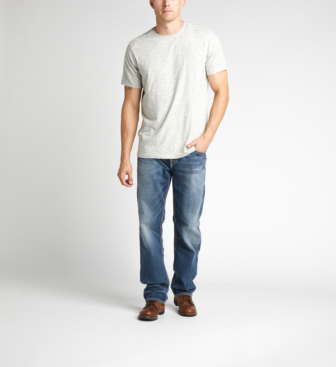 Eddie Tapered Mens Dark Wash - Big & Tall Front