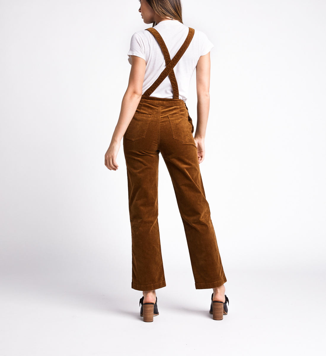 Overall Straight Leg Pants,Caramel Back